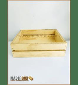 CAJA DE MADERA STANDAR 2 LINEAS GRANDE TRIPLEX