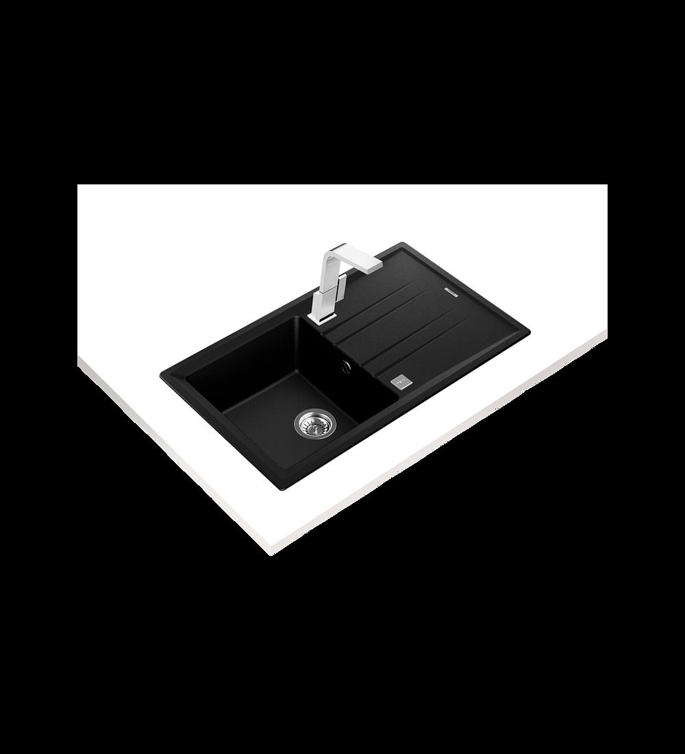 Lavaplatos Granito STONE 50 Negro Carbón TG 1C 1E Autom.