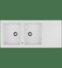 Lavaplatos Granito STONE 80 Blanco TG 2C 1E Autom.