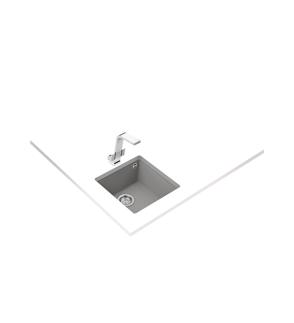 Lavaplatos SQUARE 40.40 TG Granito Stone Grey (BE)