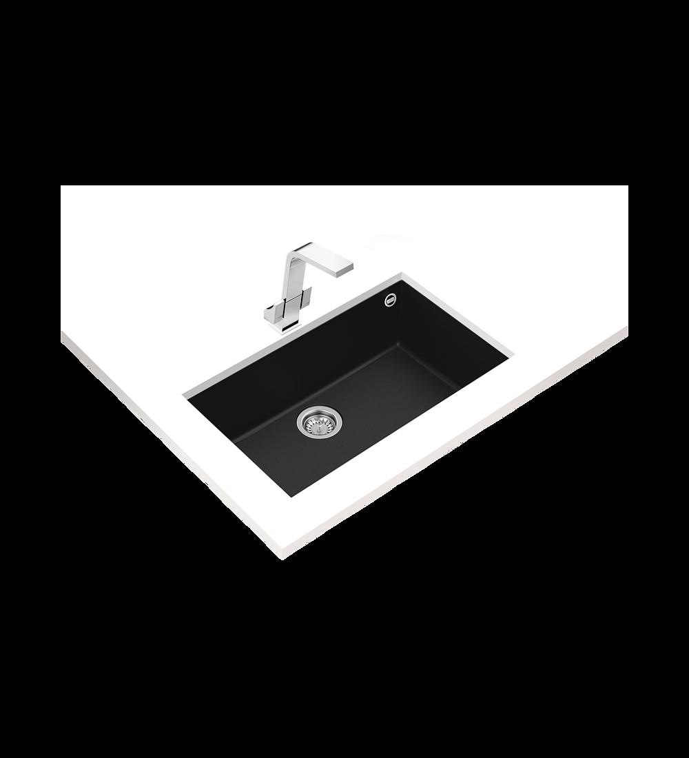 Lavaplatos SQUARE 72.40 TG Granito Negro (BE)