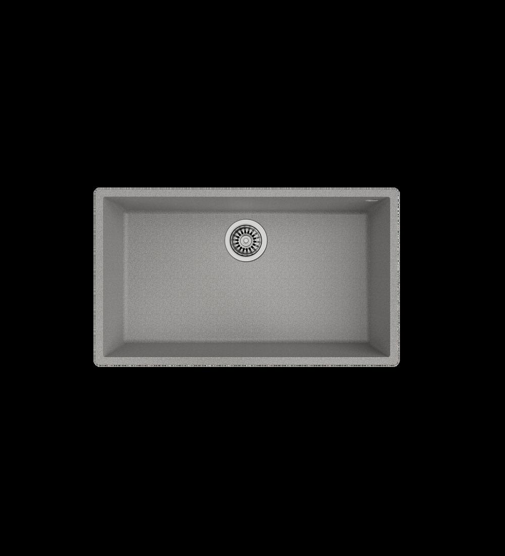 Lavaplatos SQUARE 72.40 TG Granito Stone Grey (BE)