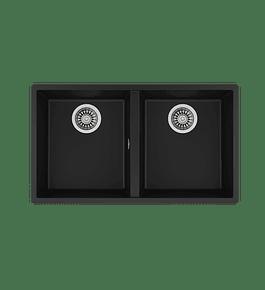 Lavaplatos SQUARE 2C-760 TG Granito Negro (BE)