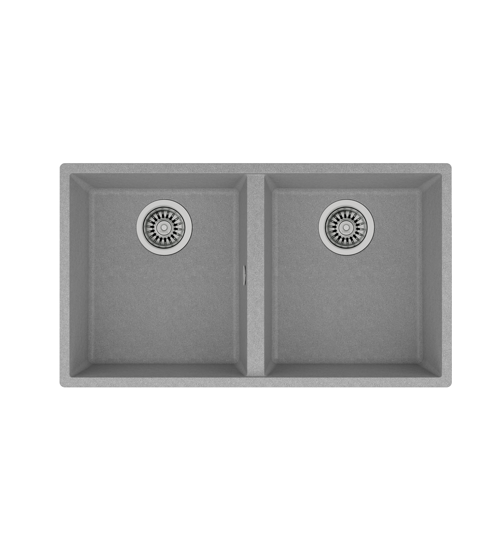 Lavaplatos SQUARE 2C-760 TG Granito Stone Grey (BE)