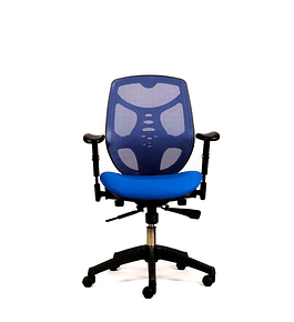 Silla oficina Ejecutiva Identity Base Nylon Azul