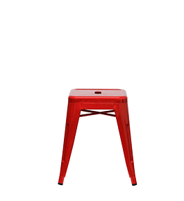Piso Tolix Asiento Metal Rojo