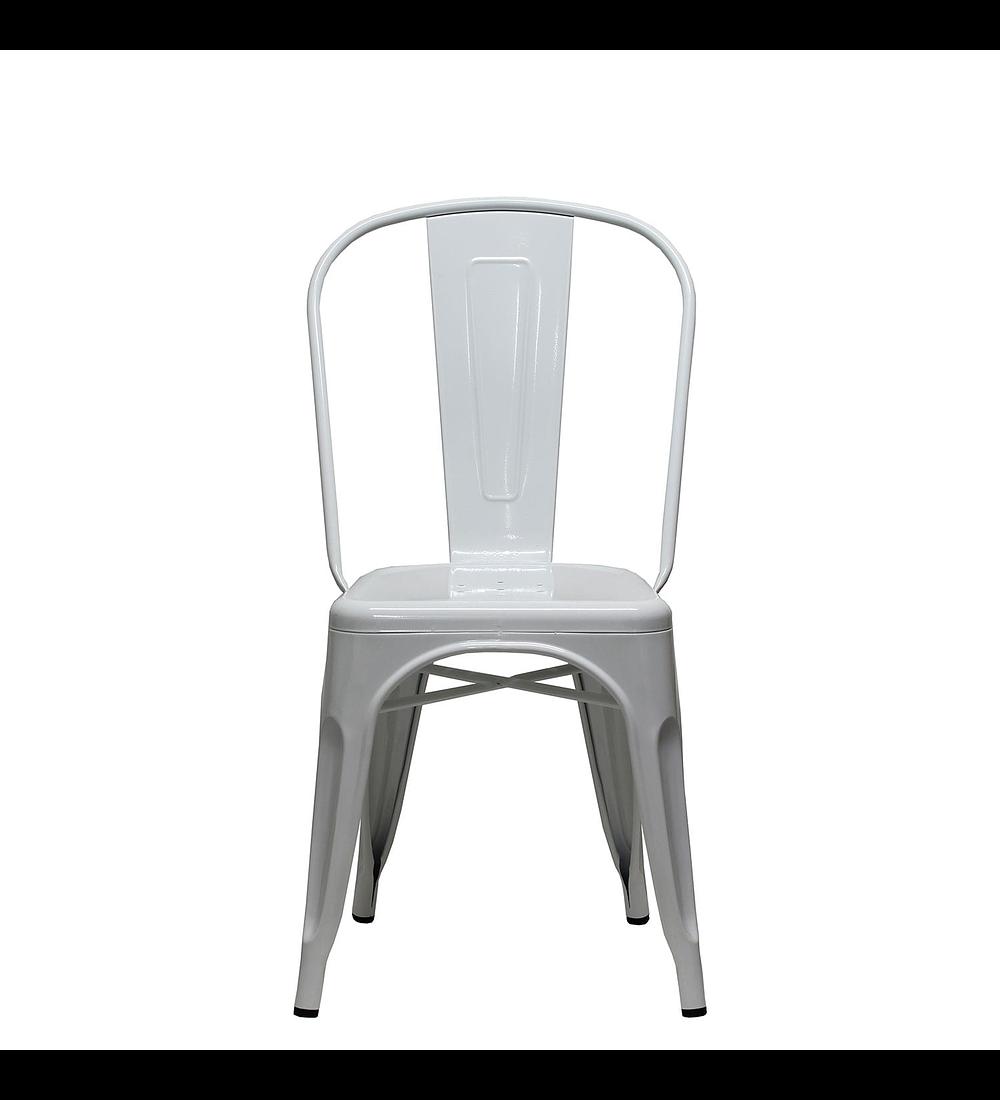 Silla diseño Tolix Asiento Metal Blanco