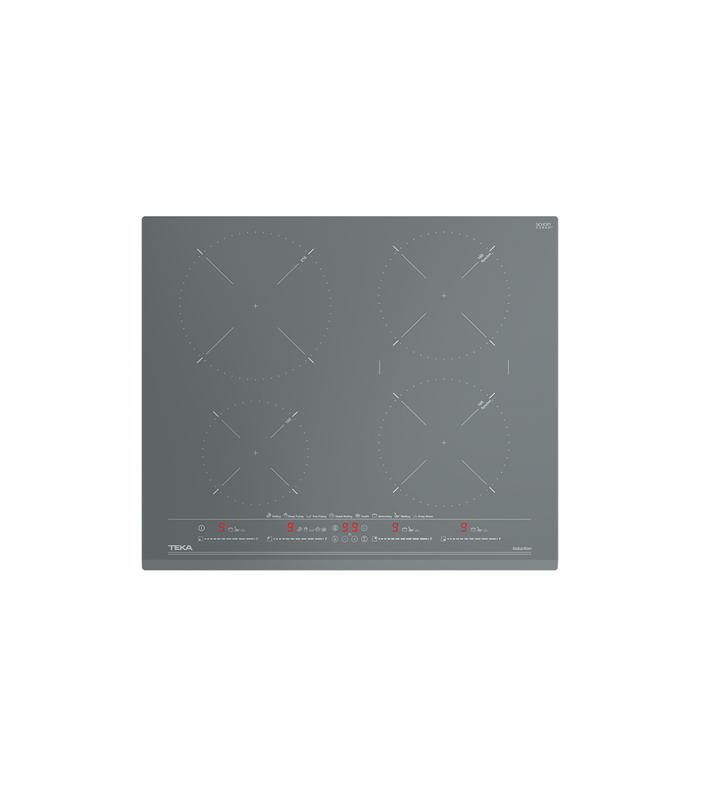 Placa de inducción MasterSense con 4 zonas IZC-64630 ST MST (Stone Grey)