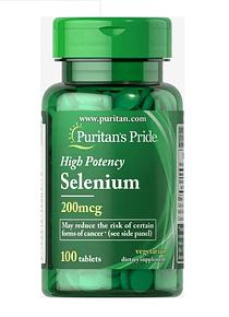 Selenio 100 tabletas 200mcg - Puritan`s Pride