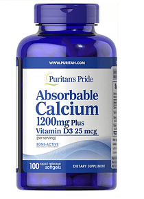 Calcio con vitamina D3 100 softgels - Puritan`s Pride