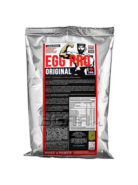 Egg Pro Megabol 300g-  Proteína de Huevo