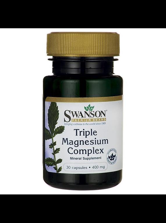 Complejo Triple magnesio 30 capsulas 400mg - Swanson