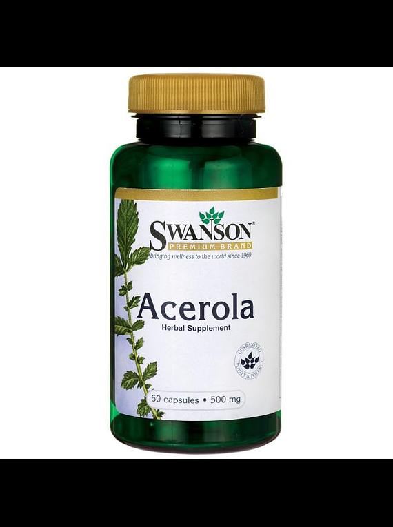 Acerola 60 capsulas, 500mg- Swanson