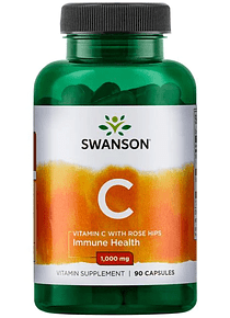 Vitamina C 1000mg 90 capsulas Swanson
