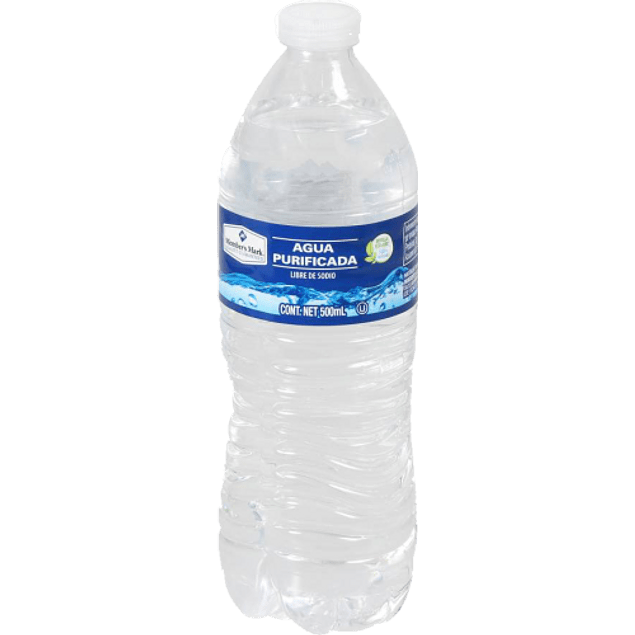 Agua purificada, paquete con 40 botella de 500 ml.