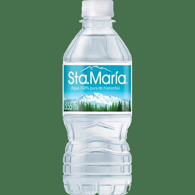 Agua de manantial, paquete con 12 botella de 355 ml.