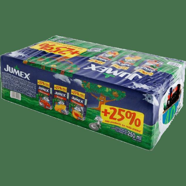 Jugo varios sabores, paquete con 40 piezas de 250 ml.
