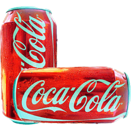 Refresco sabor cola, en lata de 355 ml.