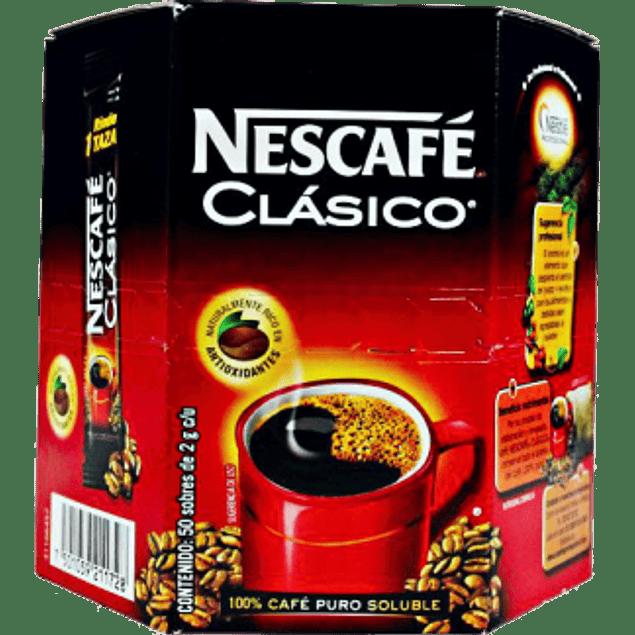 Café Stick clásico, caja con 50 sobres de 2 gramos.