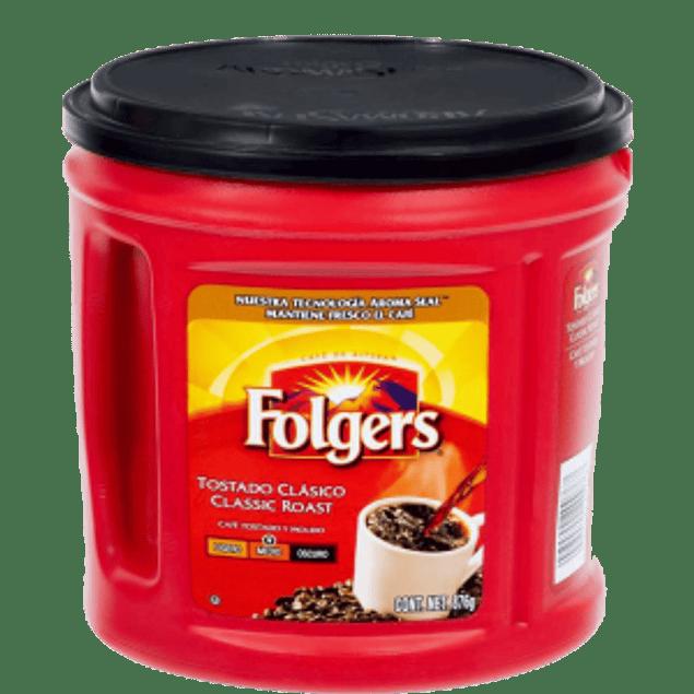 Café tostado clásico y molido, en bolsa de 876 gramos.