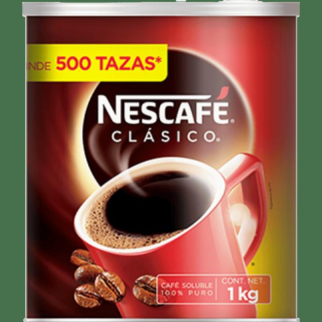 Café clásico soluble, lata de 1 kg.