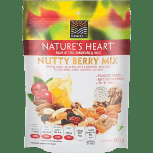 Fusión de frutas deshidratadas y nueces
