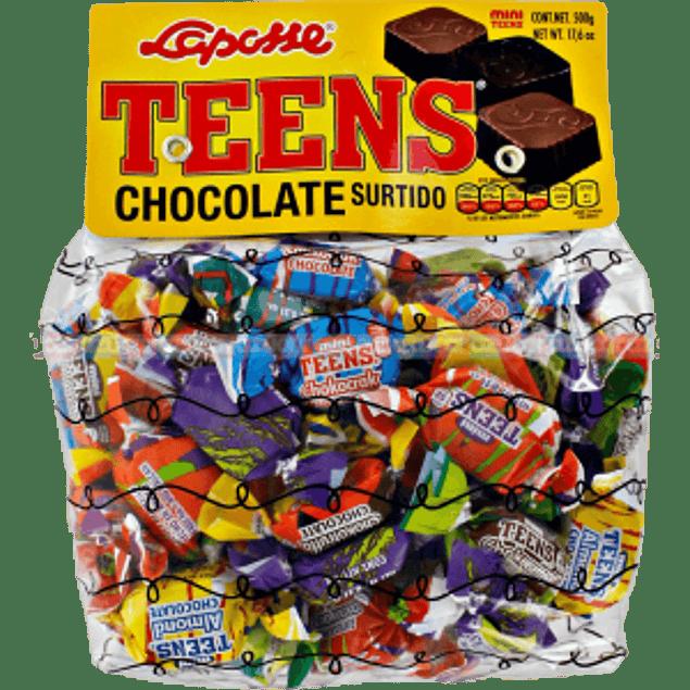 Chocolates surtidos 6 sabores, bolsa 600 gramos