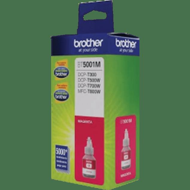 Botella de tinta brother, BT5001M color magenta, 5000 páginas, inyección de tinta