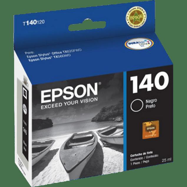Cartucho de tinta color negro T140120 para impresora TX525, TX560WD y TX620FWD