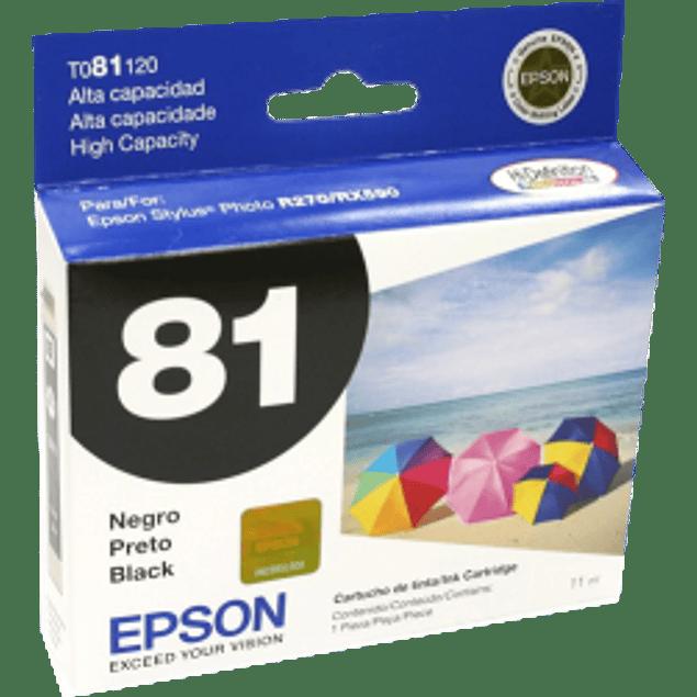 Cartucho de tinta color negro de alta capacidad para Stylus Photo R270