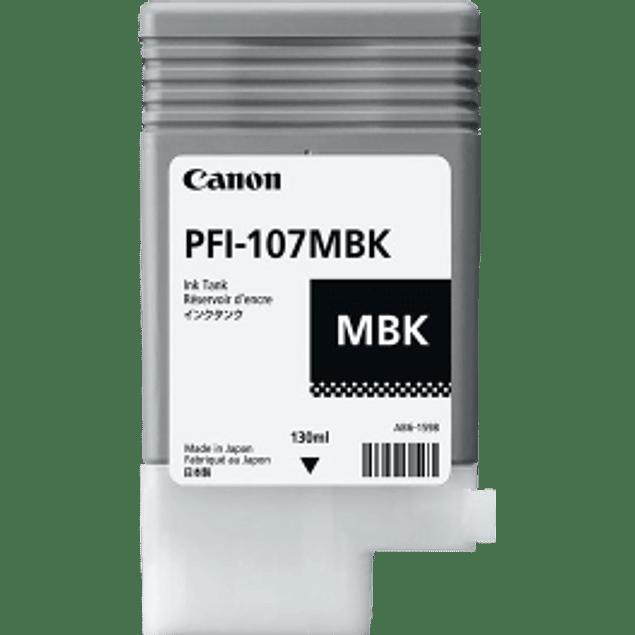 Tanque de tinta color negro mate PFI-107MBK