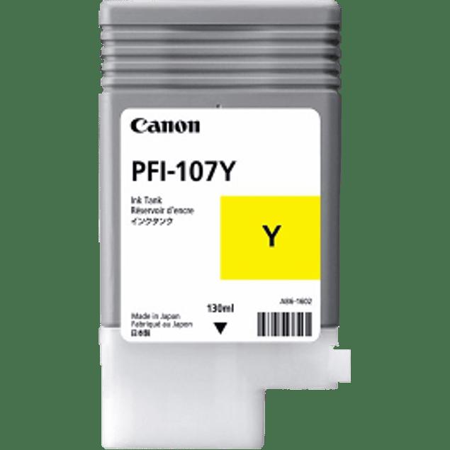Tanque de tinta color amarillo PFI-107Y