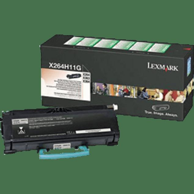 Tóner color negro, alto rendimiento, para impresora X264DN, X363DN, X364DN