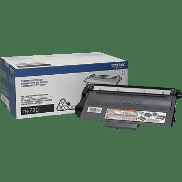 Tóner TN720 negro para impresoras láser, rendimiento de 3,000 páginas.