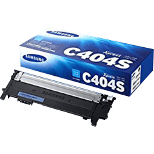 Tóner color cyan modelo CLT-C404S, rendimiento 1,000 páginas