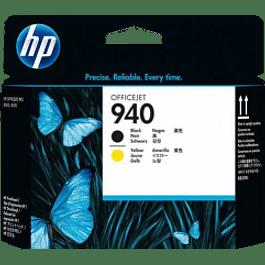 Tinta cabezal HP940 color negro y amarillo.