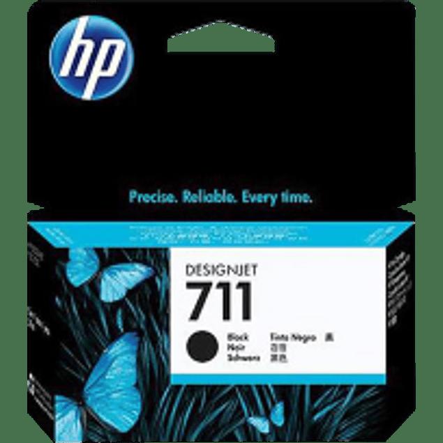 Cartucho de tinta HP 711 para designjet T120 y designjet T520, color negra de 38 ml
