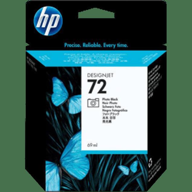 Cartucho de tinta HP 72 fotográfico, color negro.