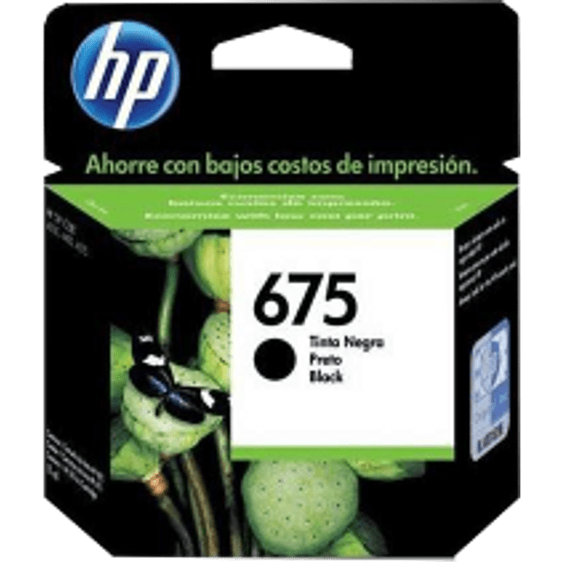 Cartucho de tinta color negro, HP 675 para CN690-A.