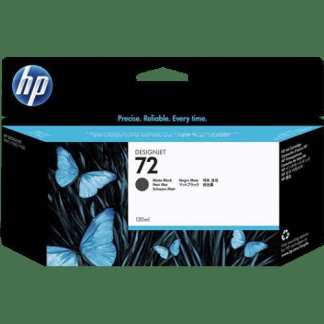Cartucho de tinta color negra mate HP 72. 130 HP
