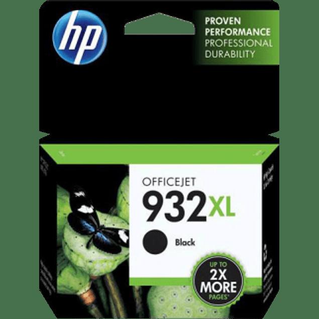 Cartucho de tinta color negra para OfficeJet HP 932Xl