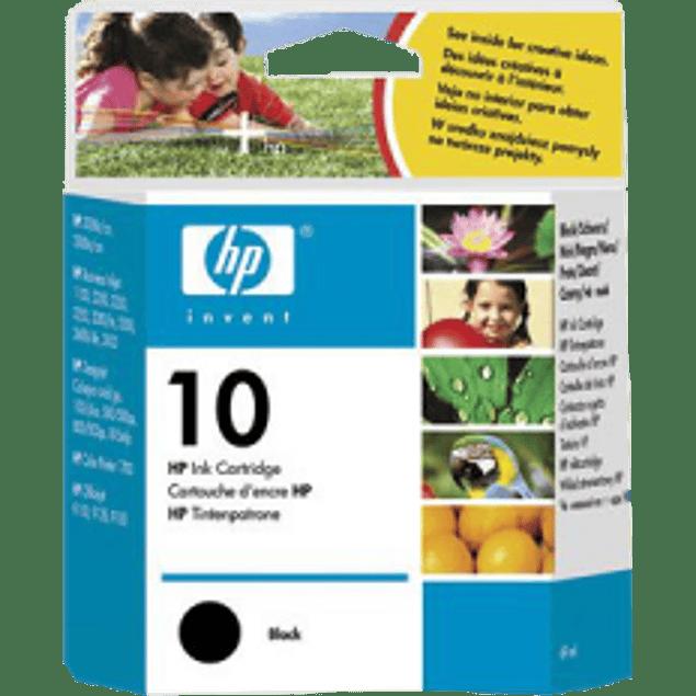 Cartucho de tinta color negro HP 10 Inkjet serie 2000