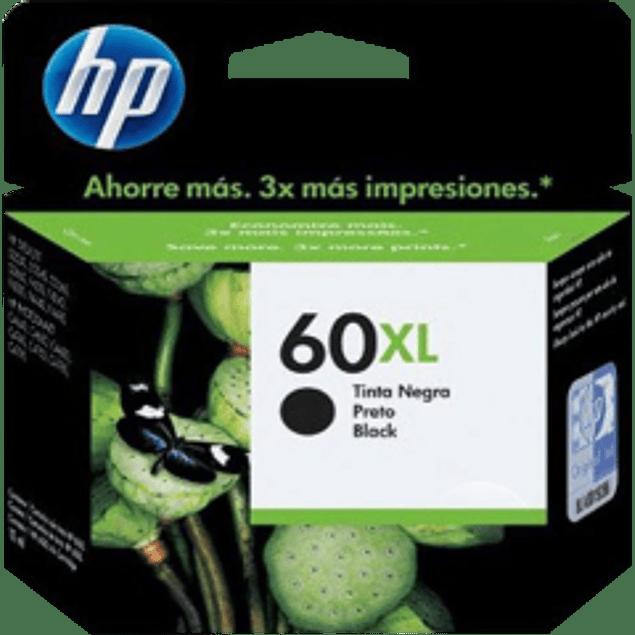 Cartucho de tinta color negro HP 60XL para DeskJet D2530, D2560, F4280