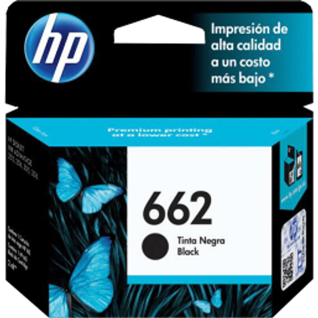 Cartucho de tinta color negro HP 662