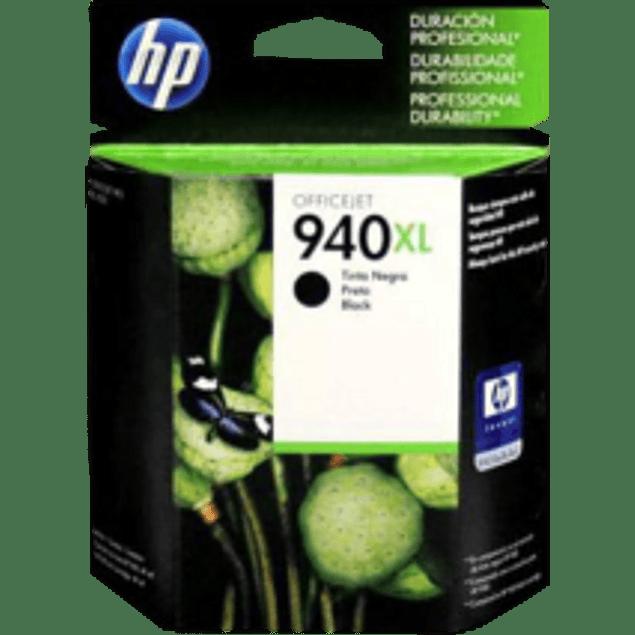 Cartucho de tinta color negro HP940XL.