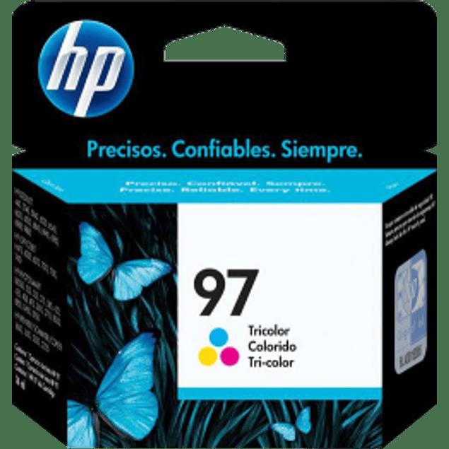 Cartucho de tinta color tricolor 4P 97 HP 6540