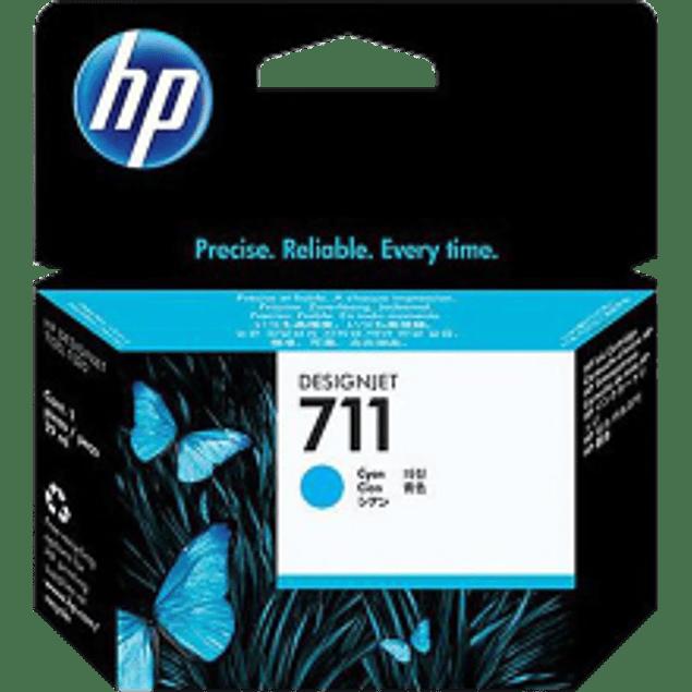 Cartucho de tinta color Cyan HP 711 de 29 ml.