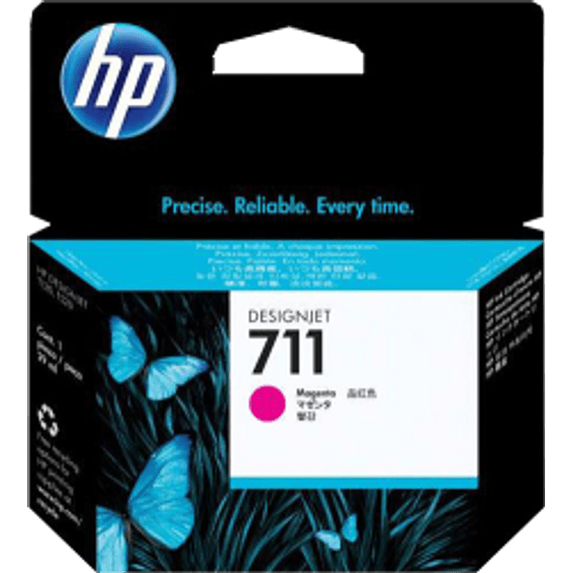 Cartucho de tinta color Magenta HP 711 de 29 ml.