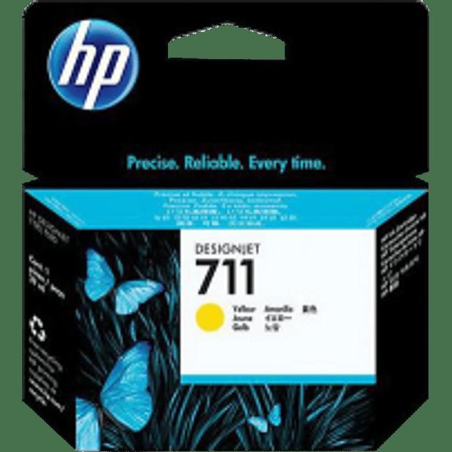 Cartucho de tinta color Amarillo, HP 711 de 29ml.