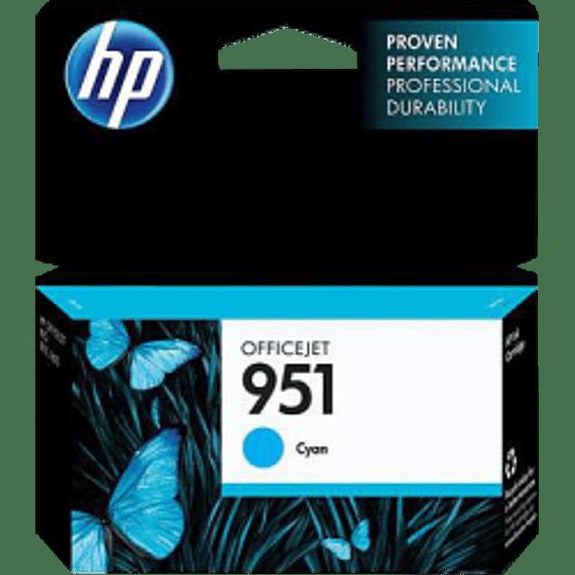 Cartucho de tinta color Cyan HP 951.